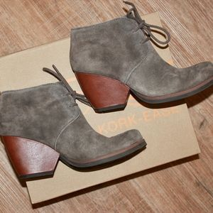 Kork Ease Lace Up Suede Bootie